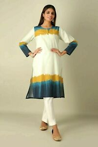 Khaadi Women's Printed Kurta Top Size 10 Brand New With Tags