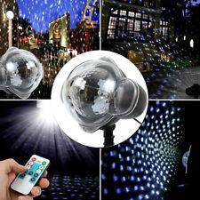 Snow Falling LED Moving Laser Projector Light Snowflake Xmas Landscape Lamp