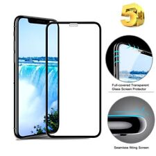 5D Full Curved Edge Black Tempered Glass Screen Protector For Apple iPhone X 10