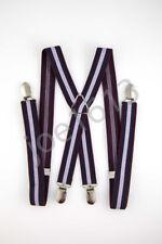 Purple Navy Blue Lavender Mens Adult Suspender Elastic X Back Adjustable SD64