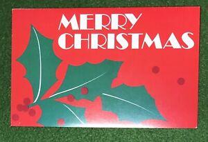 vintage Warm & Wonderful Christmas Greeting Card great 80s nostalgic art UNUSED