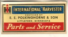 Vintage Unused Decal-International Harvester-Polkinghorne Littlefork Minnesota