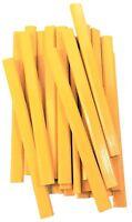 Flat Wooden Yellow Carpenter Pencils - 72 Count Bulk Box School Bus Yellow