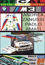DECAL BMW M3 ANDREA ZANUSSI RALLY VALLI 1988 (06)