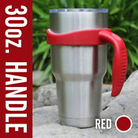 30 oz. Tumbler Handle - Fits YETI, Ozark Trail, Members Mark and More - Red
