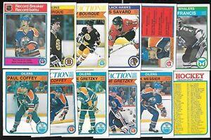 1982-83 OPC 82-83 O PEE CHEE NHL HOCKEY CARD & ERROR VARIATION 1-132 SEE LIST
