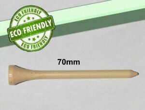 Bamboo Golf Tees Eco Friendly Biodegradable Wooden Organic Golfing  / 70mm