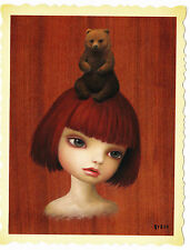 New Mark Ryden Bear Girl Tree Show Postcard Print Snow Yak Lowbrow Art Authentic