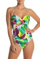 La Blanca Swimwear Tropic Bandeau One-Piece Swimsuit Women's Size 14 13104