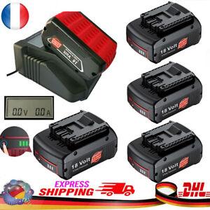 Remplacez la batterie Bosch 18V 5.0Ah Professional GBA GSR GSB Chargeur Avec LCD