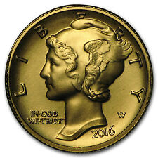 2016-W 1/10 oz Gold Mercury Dime Centennial (w/OGP) - SKU #95503