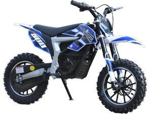 MotoTec 36v Electric Dirt Bike 500w Lithium Blue NEW