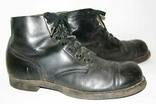 Mens 11 VTG 60s Cap Toe Boots SEIBERLING Leather Work Combat Shoe Goodrich Tire