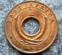 BRITISH EAST AFRICA GEORGE VI 1952 KN CENT, UNC