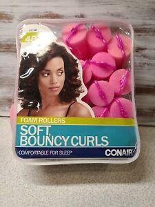 Conair Foam Soft Sponge Hair Rollers Curlers For Bouncy Curls ALL PINK- 24 Pack