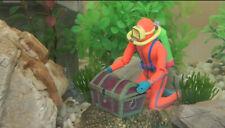 Frogman Treasure Diver Decor Air Driven Aquarium Ornament Fish Tank Decoration