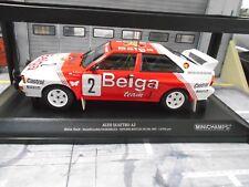 AUDI QUATTRO RALLY mis. B a2 Winner Waldegard boucles SPA belga Minichamps 1:18