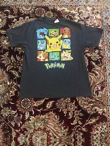 Pokemon Vintage Tee Shirt Mens Pikachu Anime Nintendo Gray Men's Size XL