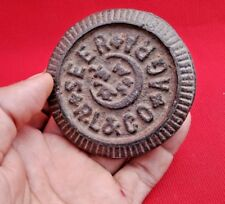 Vintage Old  Iron Mercantile Measuring Weight 1/2 Seer Agra Foundry India