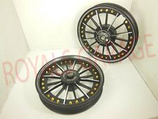 ROYAL ERADO BOSS EDITION ALLOY WHEEL black with golden rivet classic 350cc 500c