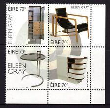 Ireland 2015 Eileen Gray Furniture Design Block 4 MNH