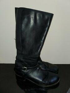 clarks ladies knee high black boots large 8