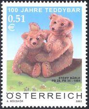 Austria 2002 Teddy Bears/Toys/Steiff/Animals/Business/Teddies 1v (b9321)