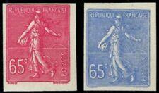 Lot N°3760 France N°201 Essai Bleu et Rose non dentelés Neuf (*) TB