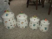 Beautiful Made in JAPAN Vintage Canister Set of 4 Fruity