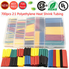 700pcs 2:1Heat Shrink Tube Tubing Sleeving Wrap Wire Assorted Kit 5 Color 8 Size