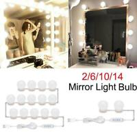 USB LED Makeup Mirror Light Bulb Dimmable Hollywood Vanity Dresser Table Lights