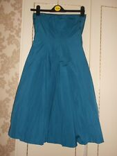 Stunning & Sexy Turquoise Strapless Dress by the Miss Sixty Label Size S BNWOT