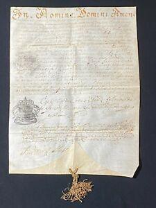 RARE Vellum Protonotary Apostolic Catholic Manuscript, Pope URBAN VIII, 1631