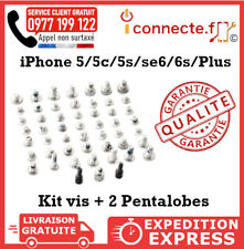 KIT VIS COMPLET + PENTALOBE IPHONE 5/5C 5S/SE 6/6S Plus TORX ORIGINAL