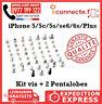 KIT VIS COMPLET + PENTALOBE IPHONE 5/5C 5S/SE 6/6S Plus TORX ORIGINAL