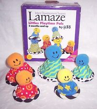 BABY-INFANT PLAYTIME PALS LAMAZE DEVELOPMENTAL TOYS:5 PC+GUIDE FAMILY- 3 MONTHS+