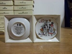 54 Norman Rockwell Four Seasons Miniature Plate Collection - IOB - No Duplicates