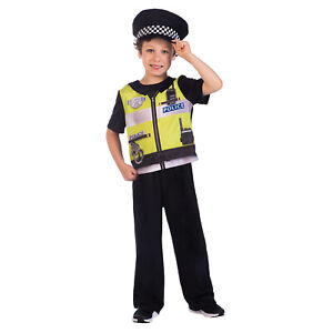 Childs Police Officer Fancy Dress Recyclable Costume Cop Uniform Kids Book Week