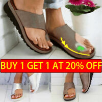 UK Seller Women Comfy  Sandals Shoes - PU LEATHER - Bunion Corrector