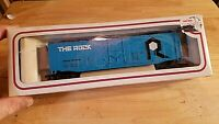 HO SCALE TRAIN Car IN BOX VINTAGE BACHMANN THE ROCK 57028 BLUE BIG R