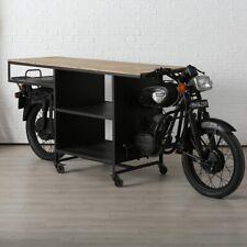 Theke Anrichte Regal Bar Tisch Motorrad Sanna 280cm Metall Sideboard Moped