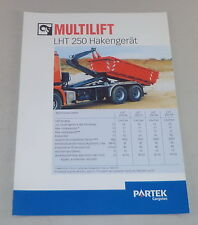 Prospekt / Broschüre Multilift LHT 250 Hakengerät Stand 06/2000