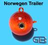 Norwegen Trailer, 50g 75g 140g 170g Sea Trailer, Kugelblei mit Öse