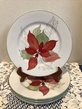 """Poinsettia By Block Spal-Portugal-4-7 3/4"""" Salad Plates"""