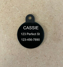 USA Made Laser Engraved Circle Pet Dog Cat Name Tag Ring Included 10 Colors!