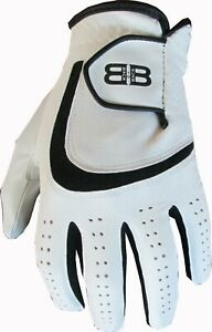 Back to Back All Weather Golf Gloves Cabretta Leather Palm Patch 5 Mens Gents