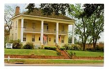 Howard Dickinson House Postcard Henderson Texas Brick Home Historic Flags