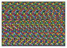 "Horse 18""x13"" 3D Stereogram Poster Hidden 3D illusion"