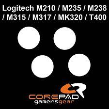 COREPAD Skatez Piedini del mouse LOGITECH m210/m235/m238/m315/m317/mk320
