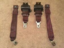 Burgundy Maroon Rear Lap Style Seat Belt Set GM Buttons 82-88 Camaro Firebird